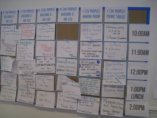 The Open Space schedule by sociate, on Flickr