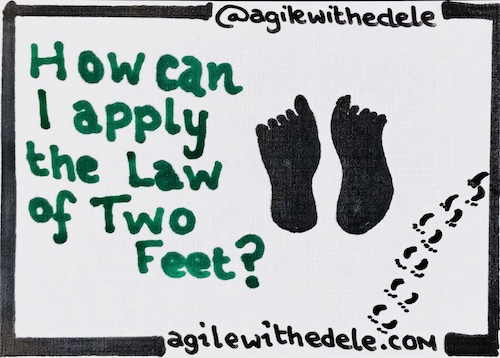How can I apply the Law of Two Feet?